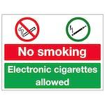No Smoking / Electronic Cigarettes Allowed