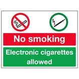 No Smoking / Electronic Cigarettes Allowed