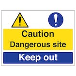 Caution / Dangerous Site / Keep Out