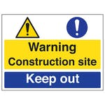 Warning / Construction Site / Keep Out