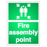 Reflective Fire Assembly Point Signs