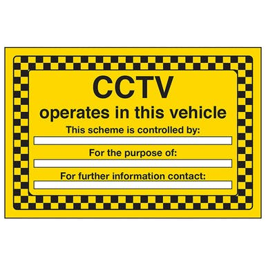 CCTV operates in this vehicle