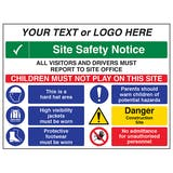 Multi Hazard Site Safety All Visitors To Site Office - Large Landscape