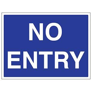 No Entry - Large Landscape