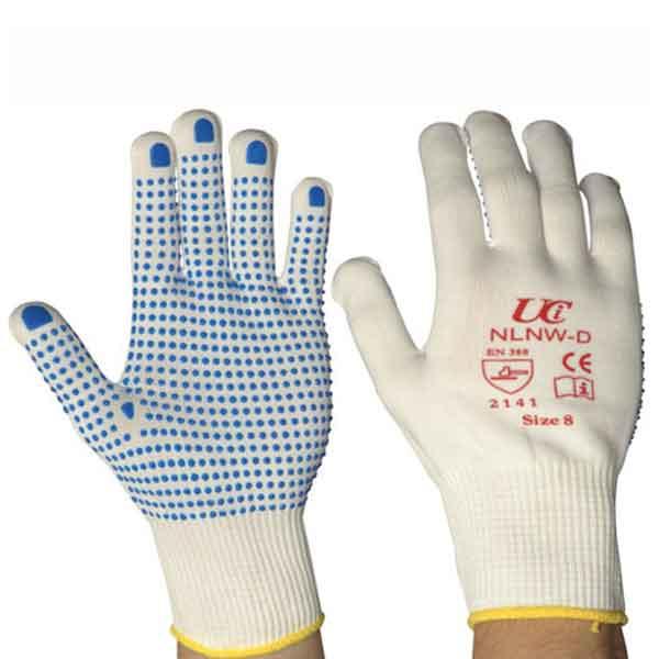 UCI 13 Gauge Nylon PVC Dotted Gloves