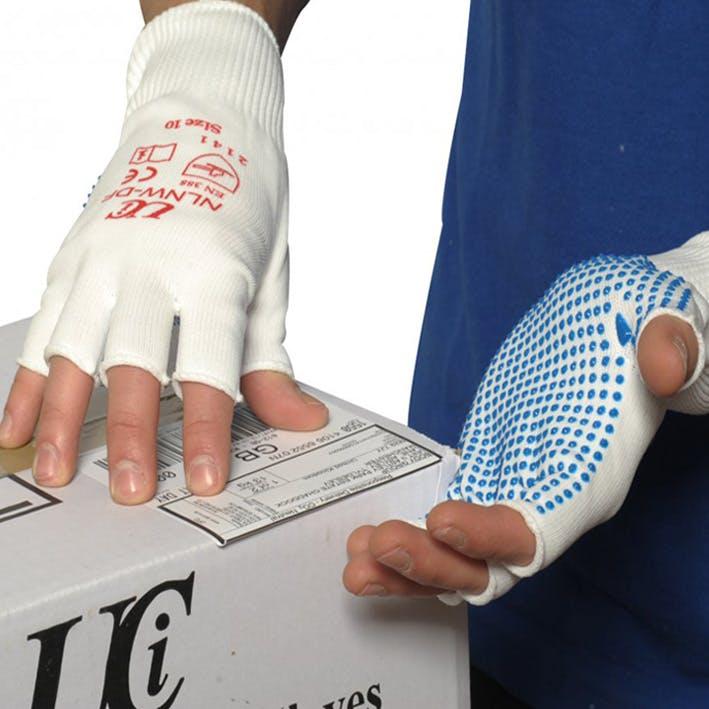 UCI Nylon Fingerless Dotted Glove