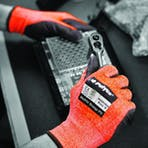 Polyco Matrix Orange PU Gloves - Cut Level 3