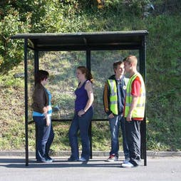Corfe Open Front Bus Shelter