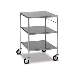 Stainless Steel Trolleys - Fixed Shelves