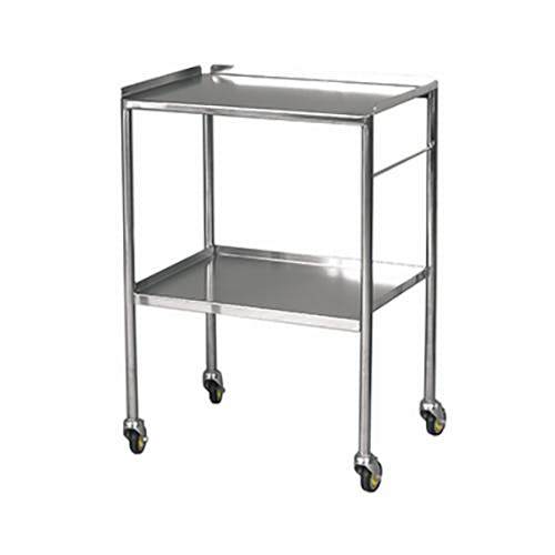 Stainless Steel Trolleys - Fixed, Sides Up Shelves
