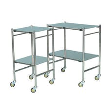 Stainless Steel Trolleys - Removable Shelves
