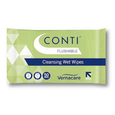 Conti Flushable Cleansing Wet Wipes