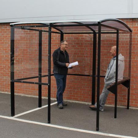 Horton Smoking Shelter with Integrated Seating