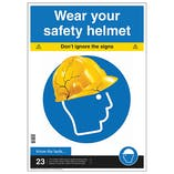 Wear Your Safety Helmet Poster