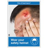 Risk Of Head Injury Poster