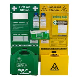 First Aid and Biohazard Stations