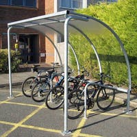 Cycle Shelter with Integrated Racks