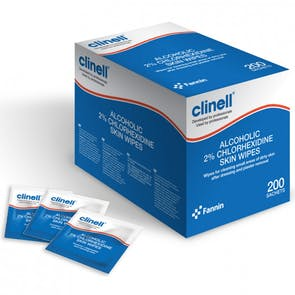Clinell Alcoholic 2% Chlorhexidine Skin Wipes