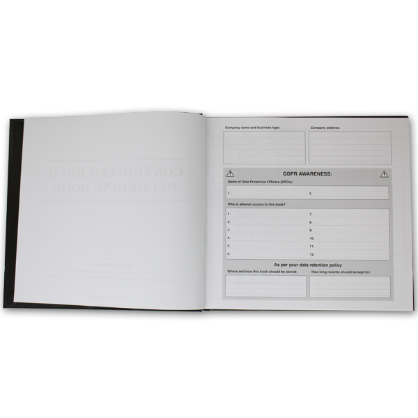 GDPR Controlled Drug Book