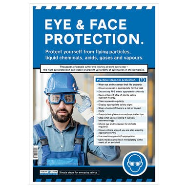 Eye and Face Protection Safety Poster