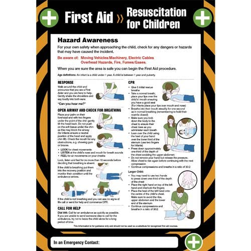 First Aid - Resus for Children Poster