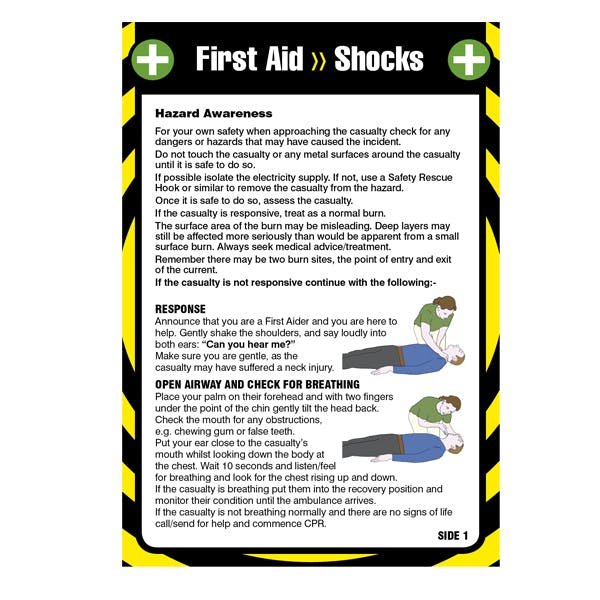 First Aid Pocket Guide - For Shock