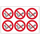 No Smoking Vinyl Labels On A Sheet