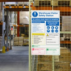 Warehouse Visitor Safety Station