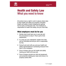 Health and Safety Law Pocket Cards
