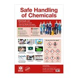 COSHH Safe Handling of Chemicals Poster