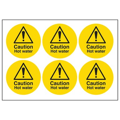 Caution Hot Water Symbols