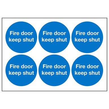 Fire Door Keep Shut Symbols