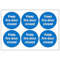 Fire Door Keep Closed Symbols