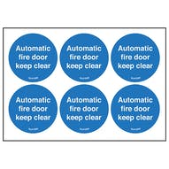 Automatic Fire Door Keep Clear Symbols