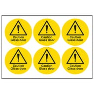 Caution Glass Door Symbols