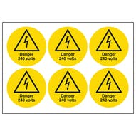 Danger 240 Volts Symbols