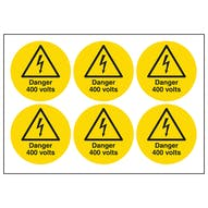 Danger 400 Volts Symbols
