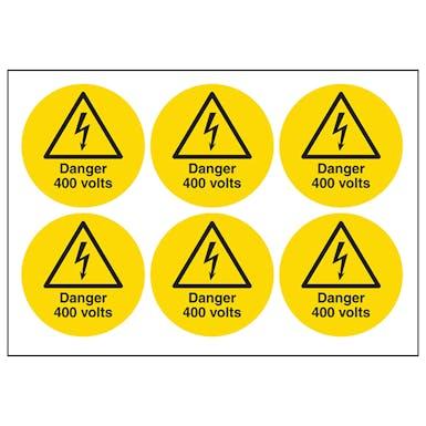 Danger 400 Volts Symbols