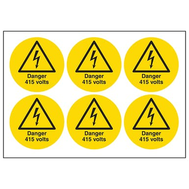 Danger 415 Volts Symbols