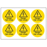 Danger High Voltage Symbols