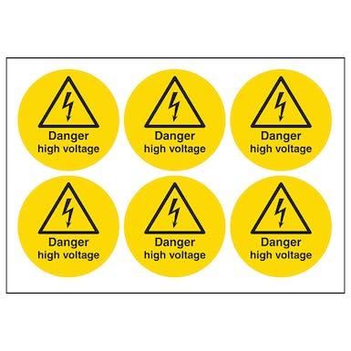 Danger High Voltage Symbols