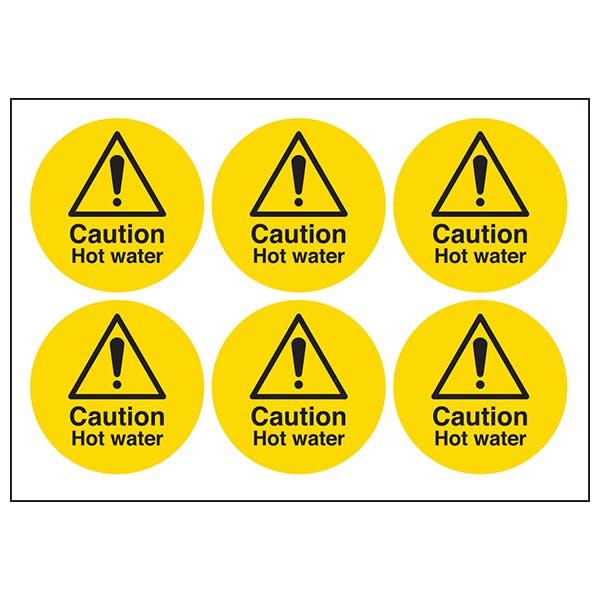 Caution Hot Water Symbols