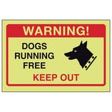 GITD Dogs Running Free, Keep Out