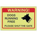 GITD Dogs Running Free, Please Shut The Gate