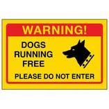 Yellow Dogs Running Free, Please Do Not Enter