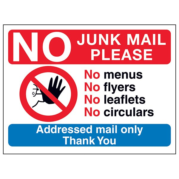 Junk Mail/Cold Caller Signs