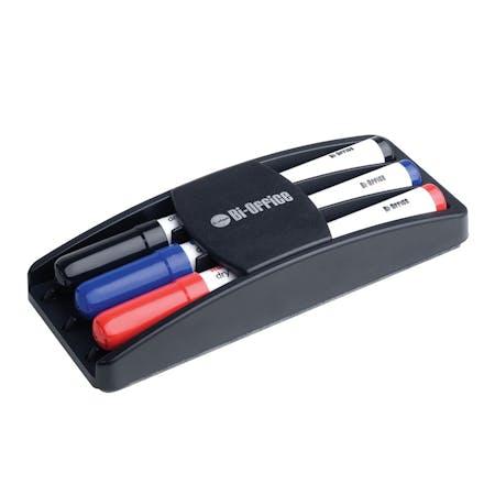 Bi-Office Dry Erase Markers and Eraser