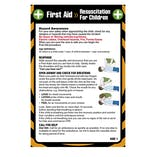 First Aid Pocket Guide - For Child Resuscitation