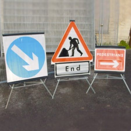 Trio Folding Traffic Signs