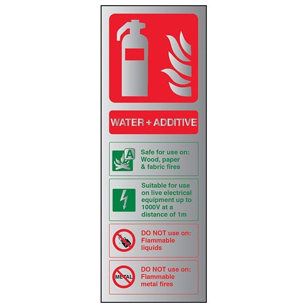Water + Additive Fire Extinguisher - Aluminium Effect